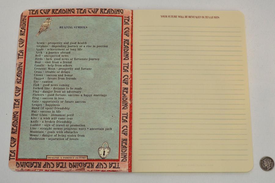 Tea Leaves Notebook Redhorseshoe