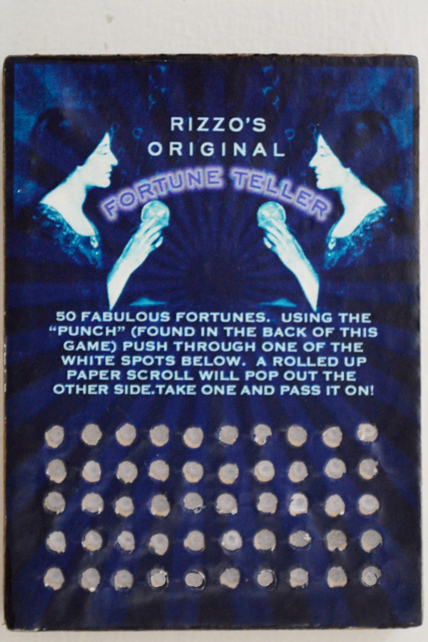Rizzo's Original Fortune Teller - Punch Card